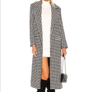 Sabra Coat in Black & White Lovers + Friends